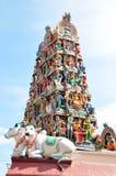 Relevación en el templo de Hindus Foto de archivo