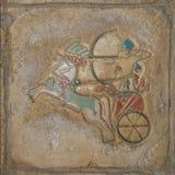 Relevación pintada egipcia Fotografía de archivo libre de regalías