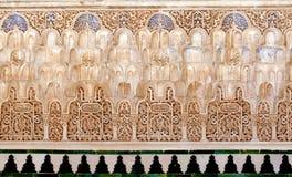 Relevaciones decorativas y azulejos - arte islámico Fotografía de archivo