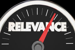 Relevance Importance Relevant Matters Speedometer 3d Illustratio. N Stock Photos