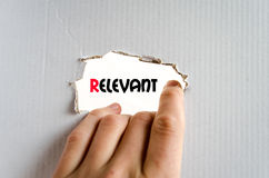 Relevant text concept Royalty Free Stock Images