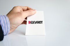 Relevant text concept Royalty Free Stock Photo