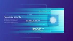 Relevez les empreintes digitales de la sécurité, du contrôle d'accès, de l'autorisation et de l'identifi illustration de vecteur