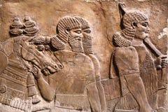 Relevo Assyrian da arte Fotos de Stock