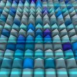 Relevo azul em 3d com as pirâmides alinhadas Imagens de Stock
