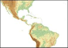 Relevo de América Central. Foto de Stock