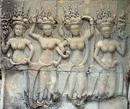 Relevo de Apsara Imagens de Stock Royalty Free