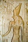 Relevo de bas de Horus, templo do EL Medina de Deir Imagem de Stock Royalty Free
