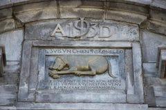 Relevo de bas do monumento do cão Fotografia de Stock Royalty Free
