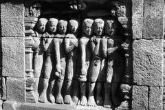 Relevo de Borabadur Imagem de Stock