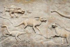 Relevo de Dino Imagens de Stock Royalty Free