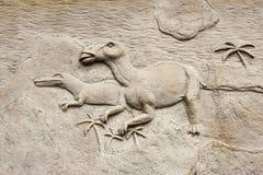 Relevo 3 de Dino Fotografia de Stock Royalty Free