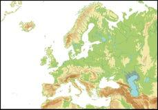 Relevo de Europa Foto de Stock Royalty Free