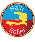 Relevo de Haiti - ícone de Haiti da ajuda Imagem de Stock Royalty Free