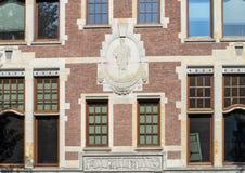 Relevo de Hermes com Caduceus, o Rijksmuseum, Amsterdão, Países Baixos fotos de stock royalty free