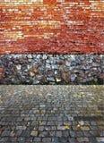 Relevo de la albañilería, de ladrillos y de piedras Fotografía de archivo