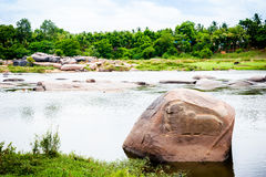 Relevo de Nandi no rio Imagem de Stock