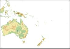Relevo de Oceania. Foto de Stock