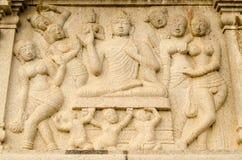Friso de Buddha, Hyderabad Fotografia de Stock Royalty Free