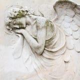 Relevo do anjo do sono Imagem de Stock