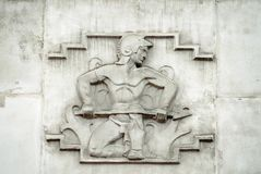 Relevo do deus de Vulcan, Westminster imagens de stock