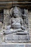 Relevo do deus do templo prambanan Fotos de Stock
