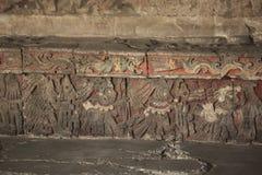 Relevo dos guerreiros - prefeito de Templo, Cidade do México Fotografia de Stock Royalty Free