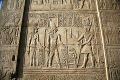 Relevo egípcio da parede fotografia de stock royalty free