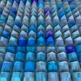 Relevo em 3d com as pirâmides alinhadas Imagens de Stock Royalty Free