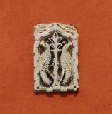Relevo medieval do pavão Imagens de Stock Royalty Free