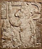 Relevo mexicano velho cinzelado na pedra Imagem de Stock Royalty Free
