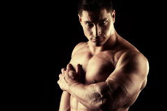 Relevo muscular Imagens de Stock