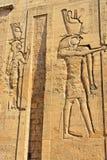 Relevo no templo de Edfu em Egito Fotografia de Stock Royalty Free