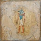 Relevo pintado egípcio imagens de stock