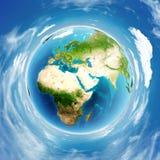 Relevo real da terra do planeta Fotos de Stock