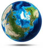 Relevo real das montanhas do planeta da terra Imagens de Stock Royalty Free