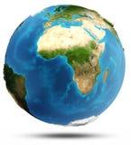 Relevo real e água da terra do planeta Foto de Stock