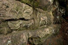 Relevos da rocha perto do statek de Kopicuv Fotografia de Stock Royalty Free