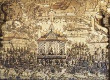 Relevos na parede do templo imagem de stock