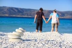 Relexation na praia Imagens de Stock