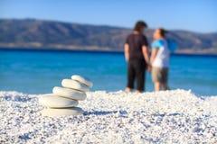 Relexation na praia Foto de Stock
