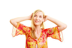 Relexed woman in summer Royalty Free Stock Images