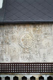 Relf fragment patterns on the wall of Pokrovsky Cathedral Royalty Free Stock Image