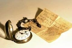Relógio de bolso velho Imagem de Stock