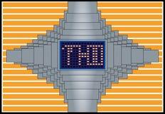 Relógio de Digitas Imagens de Stock