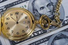 Relógio de ouro da aposentadoria Imagens de Stock
