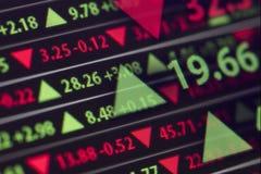 Relógio do mercado de valores de ação Imagens de Stock Royalty Free