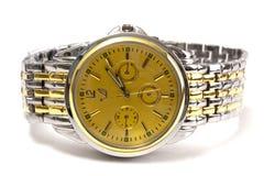 Relógio dourado Fotos de Stock