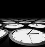 Relógios infinitos Fotografia de Stock Royalty Free