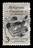 Relgious Freedom US Postage Stamp Stock Images